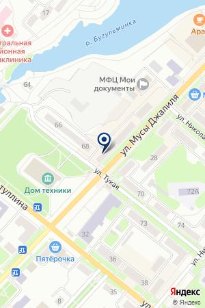 ДОМ ТЕХНИКИ на карте Бугульмы