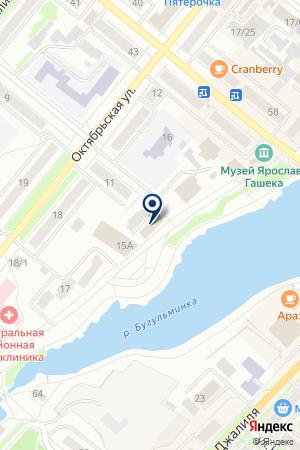 БУГУЛЬМИНСКИЙ РАЙОННЫЙ УЗЕЛ ПОЧТОВОЙ СВЯЗИ на карте Бугульмы