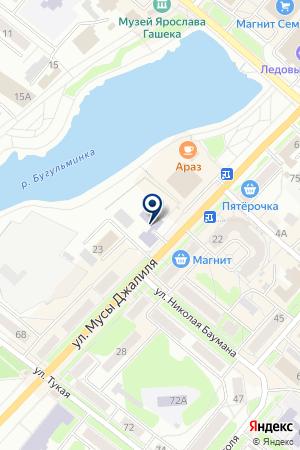БУГУЛЬМИНСКИЙ ДЕТСКИЙ ДОМ на карте Бугульмы