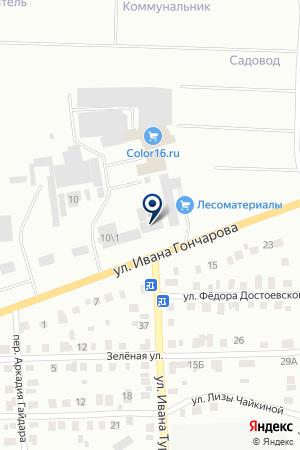 БУГУЛЬМИНСКИЙ ФИЛИАЛ ПРОЕКТНО-РЕМОНТНО-СТРОИТЕЛЬНОЕ ОБЪЕДИНЕНИЕ ТАТАВТОДОР на карте Бугульмы