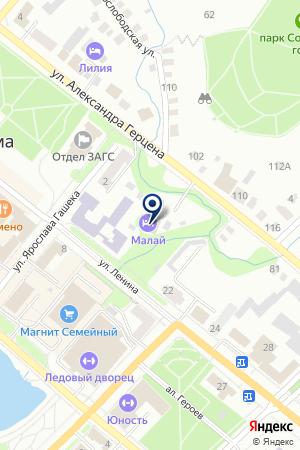 ВЕЧЕРНЯЯ ШКОЛА СРЕДНЕГО ОБЩЕГО ОБРАЗОВАНИЯ на карте Бугульмы
