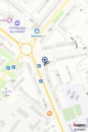 ЦЕНТР ВНЕШКОЛЬНОЙ РАБОТЫ ВЕСЕЛЫЙ РЕЙС на карте Бугульмы