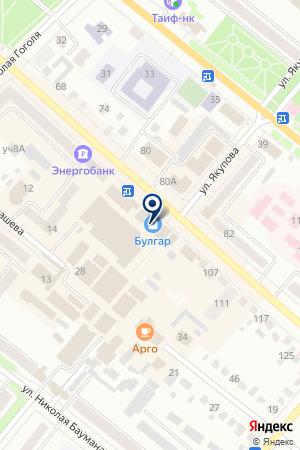 БУГУЛЬМИНСКИЙ УЧАСТОК ТАТАРСКОЕ РЕСПУБЛИКАНСКОЕ УПРАВЛЕНИЕ ИНКАССАЦИИ на карте Бугульмы