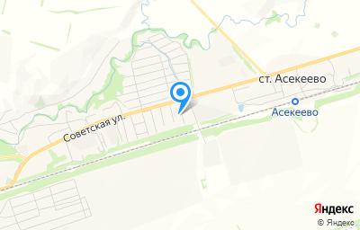 Местоположение на карте пункта техосмотра по адресу Оренбургская обл, с Асекеево, ул 50 лет Победы, д 8