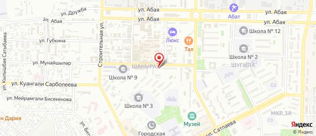 Карта расположения пункта доставки На Мангистау в городе Жанаозен