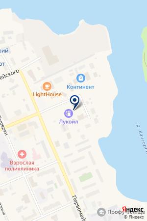 АЗС № 6 на карте Нарьян-Мара