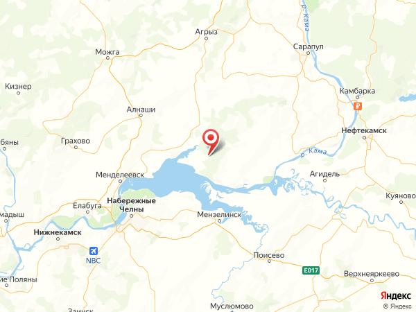 село Ямурзино на карте