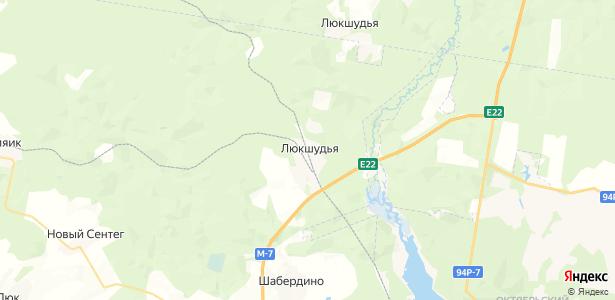Люкшудья на карте