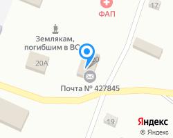 Схема местоположения почтового отделения 427845