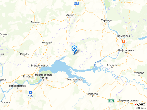 деревня Саклово на карте