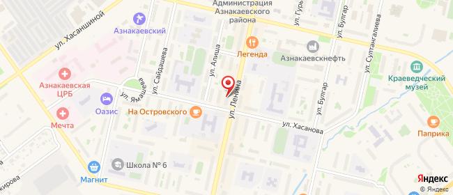 Карта расположения пункта доставки СИТИЛИНК в городе Азнакаево