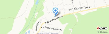 Кедровый на карте Ижевска