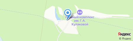 Спортивно-оздоровительный лыжный комплекс им. Г.А. Кулаковой на карте Ижевска