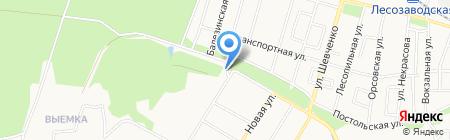 Машиностроитель на карте Ижевска