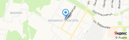 Парикмахерская на карте Ижевска