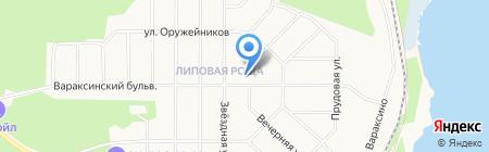 Липовая Роща на карте Ижевска