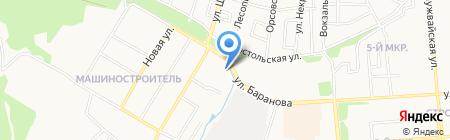 Строящийся жилой дом по ул. Аристов Ключ на карте Ижевска