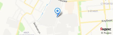 Сосна на карте Ижевска