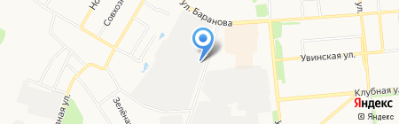 Искра на карте Ижевска