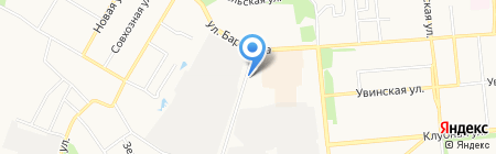 АГЗС Барановская на карте Ижевска