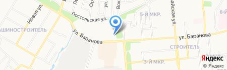Ветеринарная лечебница Ленинского района на карте Ижевска