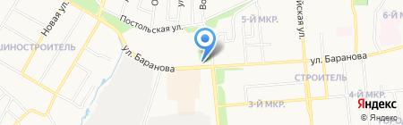 Среди цветов на карте Ижевска