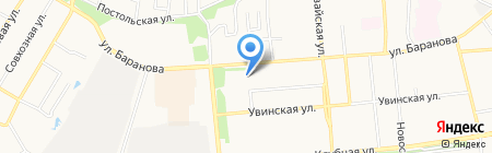 Юный баскетболист на карте Ижевска