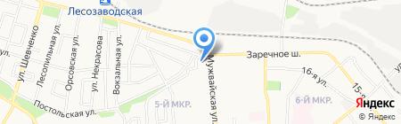 Туфелька на карте Ижевска