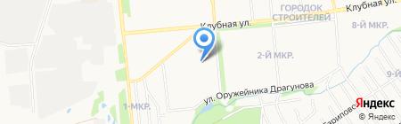 Зебра на карте Ижевска