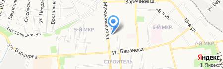 Продукты на карте Ижевска