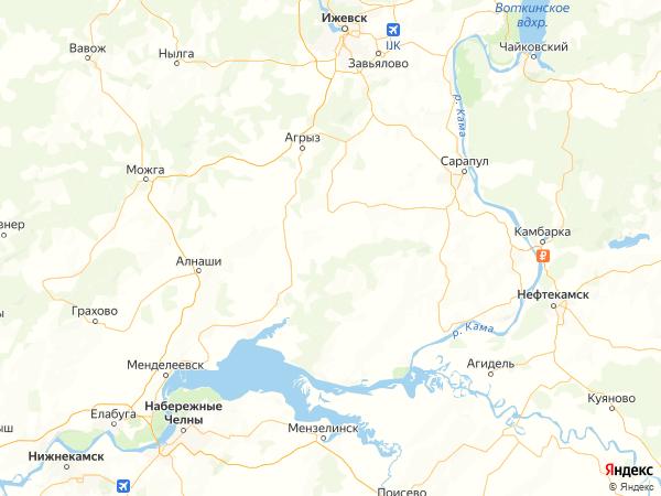 деревня Михайловск на карте