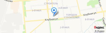 Карандаш на карте Ижевска