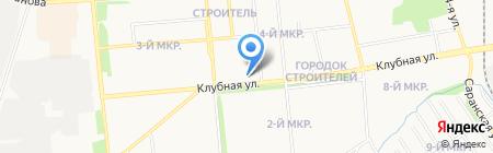 Городок на карте Ижевска