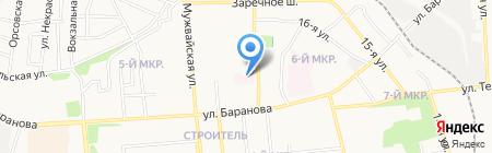 Детская городская поликлиника №6 на карте Ижевска