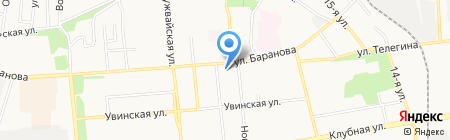Детский сад №1 на карте Ижевска