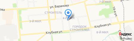 Библиотека им. В.В. Маяковского на карте Ижевска