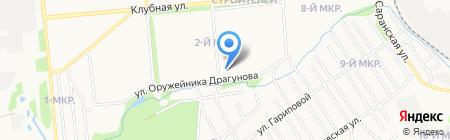 Ирбис на карте Ижевска