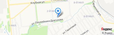 Лада на карте Ижевска