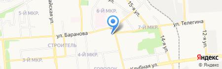 Стройматериалы на карте Ижевска