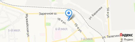 Заречное шоссе 19 на карте Ижевска