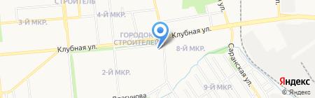 Магазин хлебобулочных и кондитерских изделий на карте Ижевска