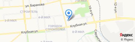 Автомойка на ул. Зои Космодемьянской на карте Ижевска