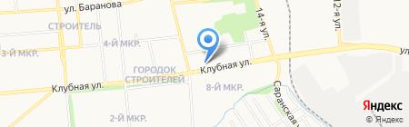 Пермские окна на карте Ижевска