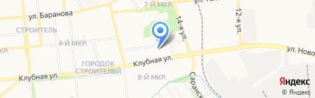 Новая клубная на карте Ижевска