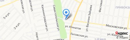 Сауна на Московской на карте Ижевска