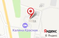Схема проезда до компании Калина красная в Пирогово