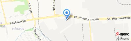 Газпром Газораспределение Ижевск на карте Ижевска