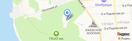 Парк культуры и отдыха им. С.М. Кирова на карте Ижевска
