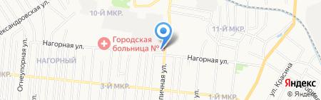 Шиномонтажная мастерская на ул. Нагорной на карте Ижевска