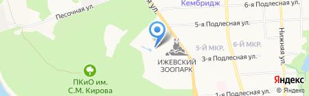 Смаженка на карте Ижевска